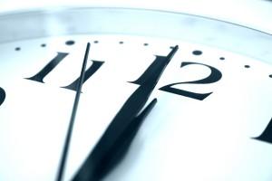 clock at midnight