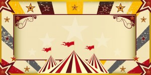 Color circus invitation. An invitation card for your circus comp